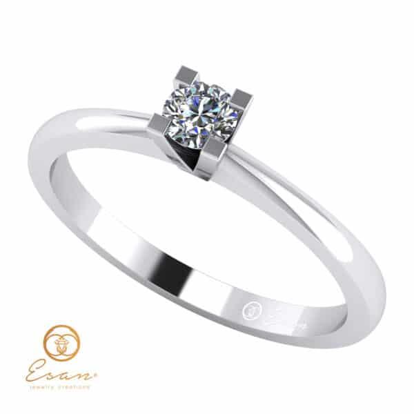 inel de logodna din aur cu diamant ES31-A