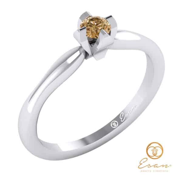 Einel de logodna din aur cu ametist ES10-A