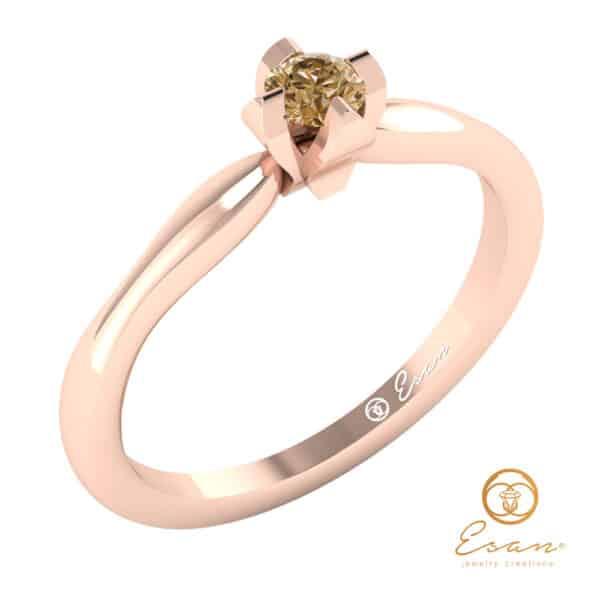Einel de logodna din aur cu ametist solitaire ES10-R