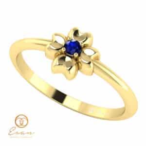Inel de logodna cu safir din aur