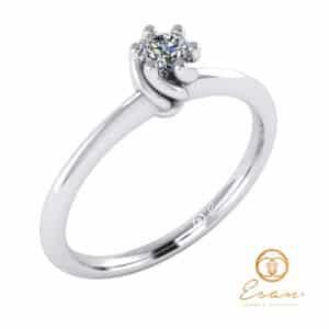 inel de logodna din aur cu diamant ES28-A