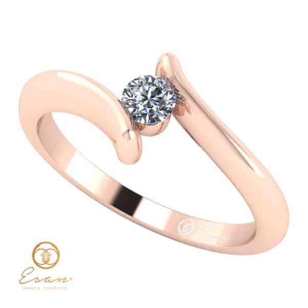 inel de logodna din aur cu diamant ES32-R