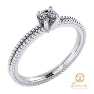 inel de logodna din aur cu diamant ES36-A
