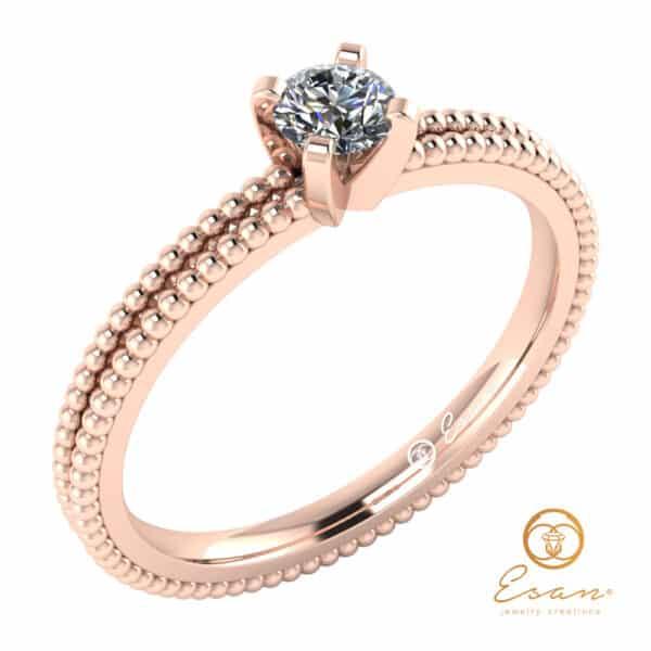 inel de logodna din aur cu diamant solitaire ES36-R