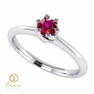 inel de logodna din aur cu rubin solitaire ES1-A