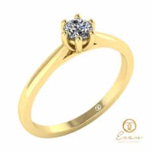 inel de logodna solitaire din aur cu diamant ES23