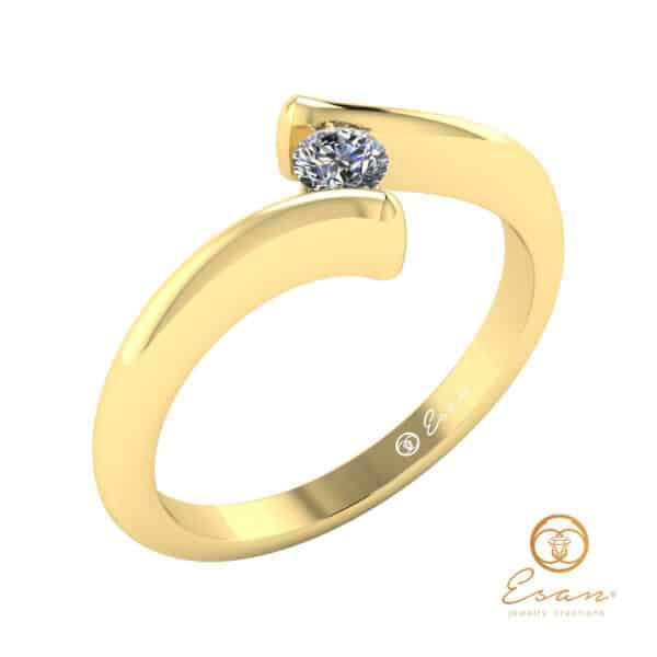 inel de logodna solitaire din aur cu diamant ES32-G