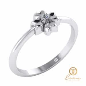 inel de logodna solitaire din aur cu diamant ES4