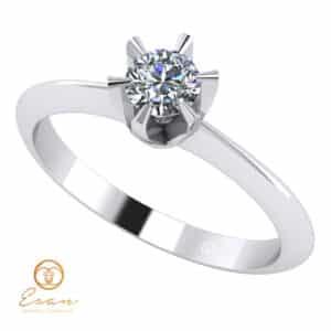 Inel de logodna din aur cu diamant natural