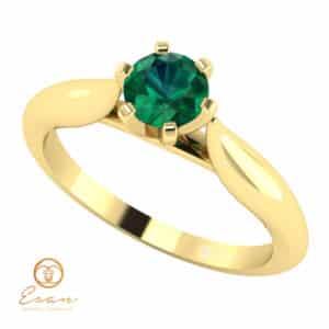 Inel de logodna din aur cu smarald ES131
