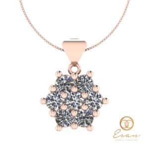 Pandantiv din aur 14k sau 18k cu diamante ESP3