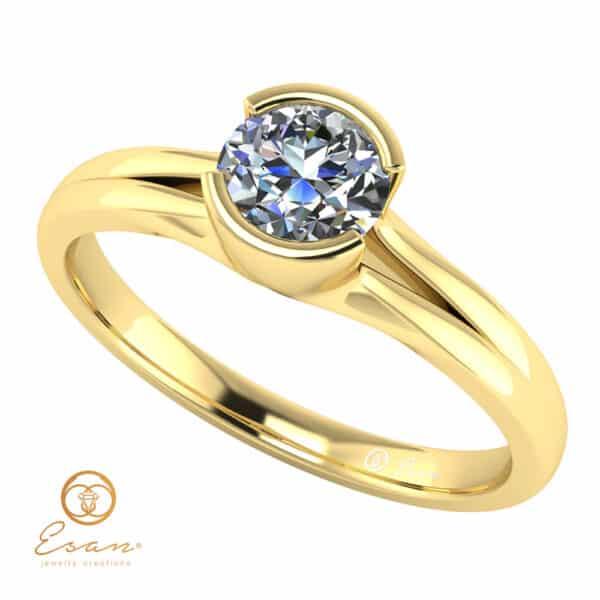 Inel de logodna din aur cu diamant 0.50ct ES134
