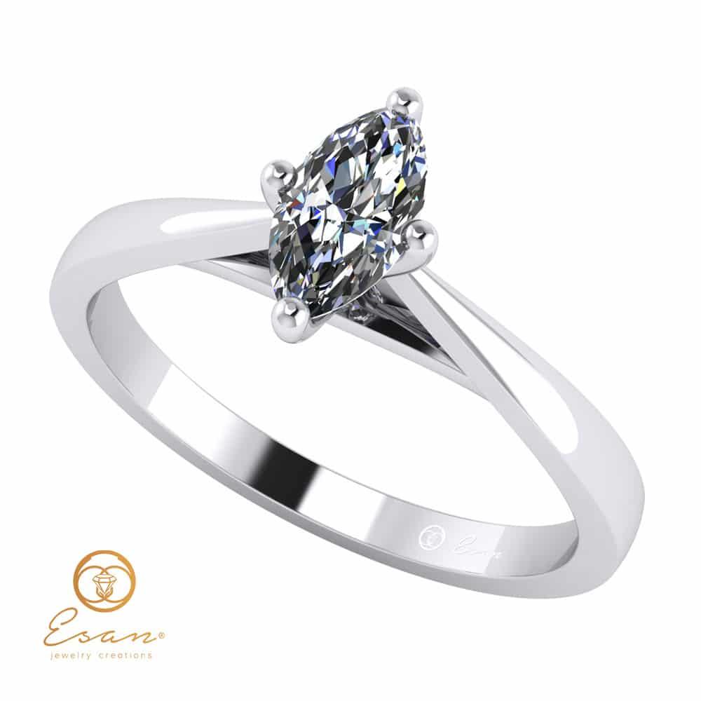 inele de logodna cu diamant