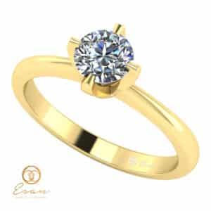 Inel de logodna solitaire cu diamant incolor ESD137