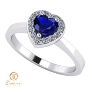 inel de logodna din aur cu safir si diamante