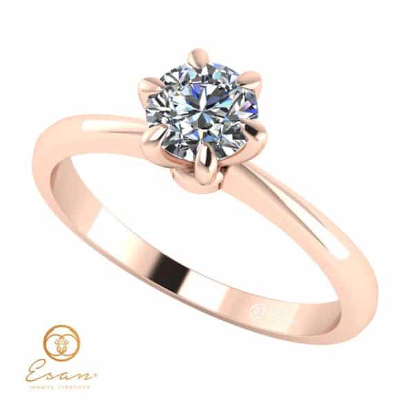Inel de logodna din aur solitaire cu diamant ESD139