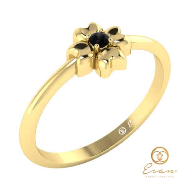 "Inel-de-""logodna""-cu-diamant*-negru-ES4"