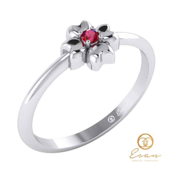 inel de logodna cu rubin ES4
