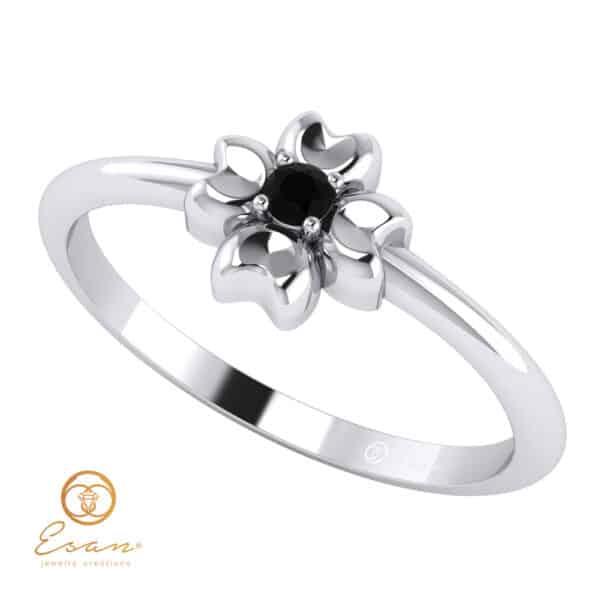Inel-de- logodna -cu-diamant-negru-ES4