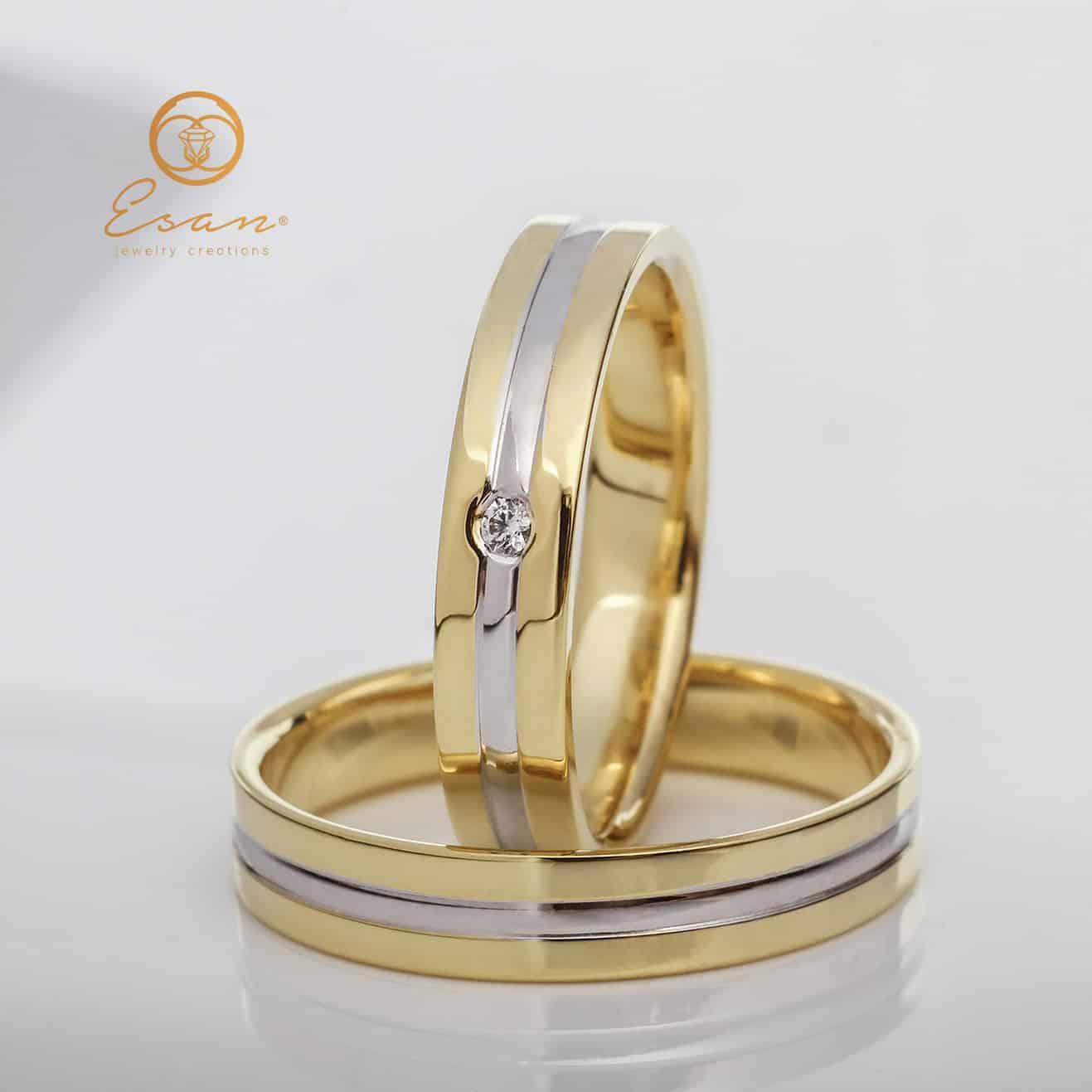 Verighete Din Aur Cu Diamant Esv30 Verighete Esan