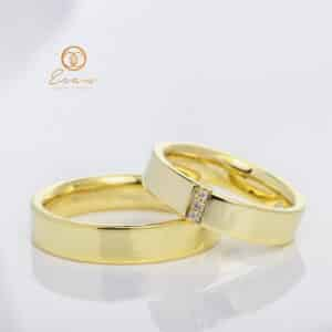 Verighete din aur cu diamante esv35