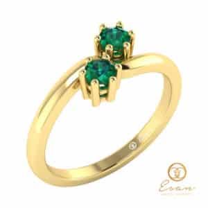 inel din aur cu smarald
