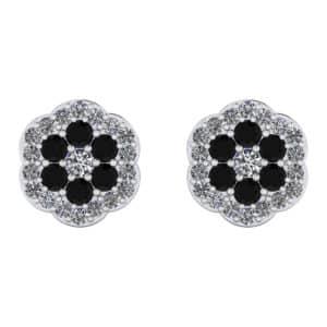 Cercei cu diamante negre si incolore ESC3