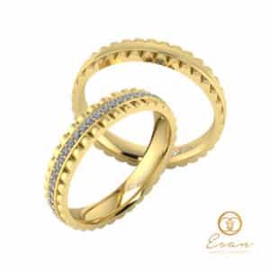 verighete din aur cu diamante naturale