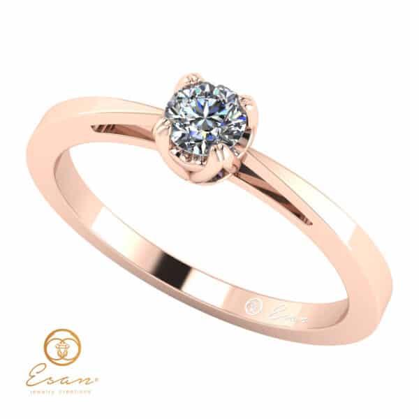 Inel de logodna cu diamant solitaire