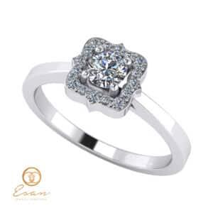 Inel de logodna din aur cu diamante