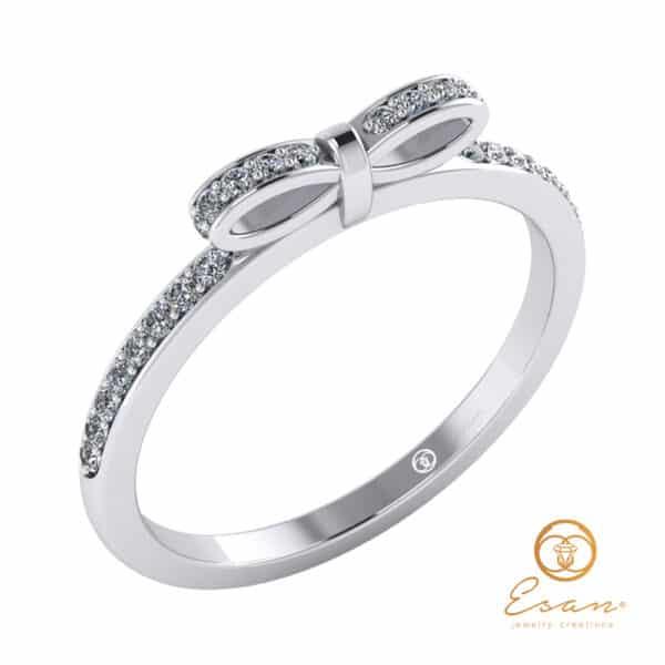 inel de logodna din aur cu diamante ES88-A