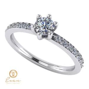 Inel de logodna din aur cu diamante ES118-A