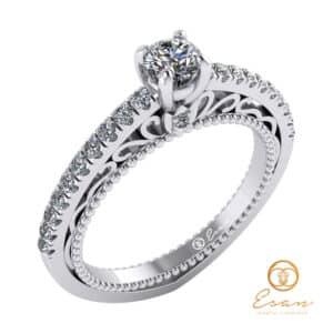 inel de logodna din aur cu diamante ES90-A