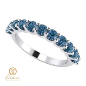 Inel de logodna din aur cu diamante albastre ESDB124