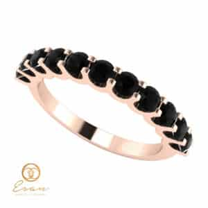 Inel de logodna din aur cu diamante negre naturale ESDN124