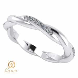 Inel din aur alb 14k eternity cu diamante naturale ESD138