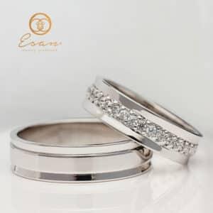 Verighete din aur cu diamante ESV72
