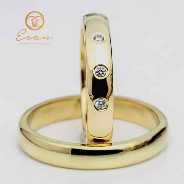 clasice din aur galben cu diamante ESV79