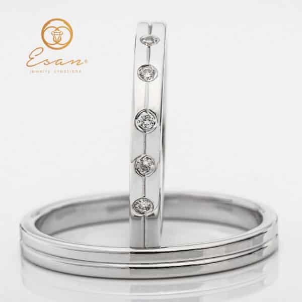 din aur simple cu diamante ESV91