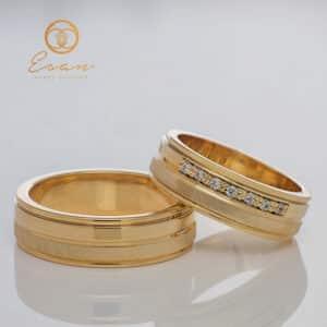 Verighete din aur galben cu diamante ESV90