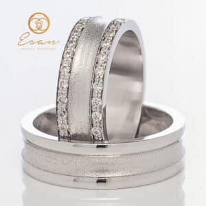 din aur alb 14k cu diamante ESV92