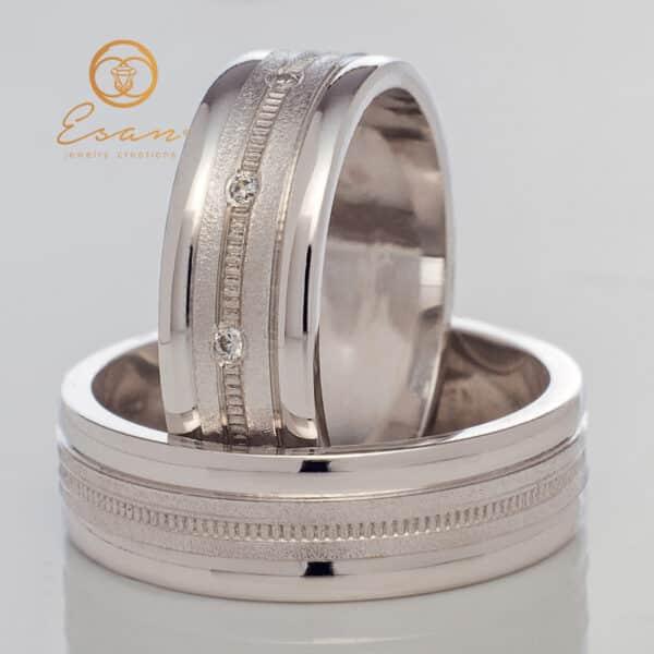 din aur alb cu diamante ESV93