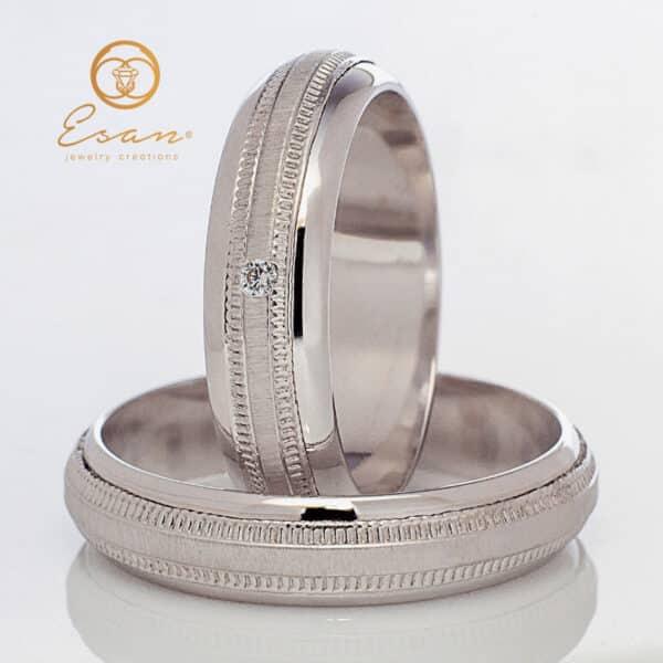 din aur alb 14k cu diamant ESV96