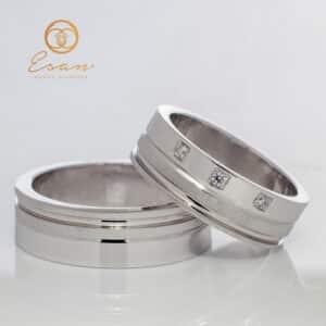 Verighete din aur cu diamante ESV97