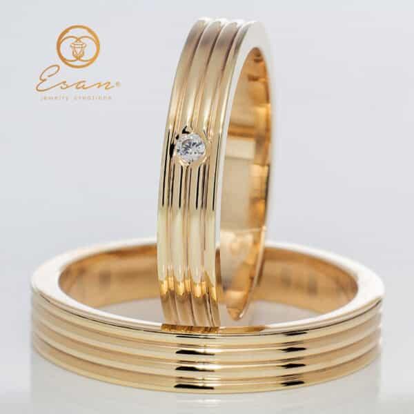 din aur galben cu diamant ESV98