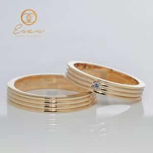 Verighete din aur galben cu diamant ESV98