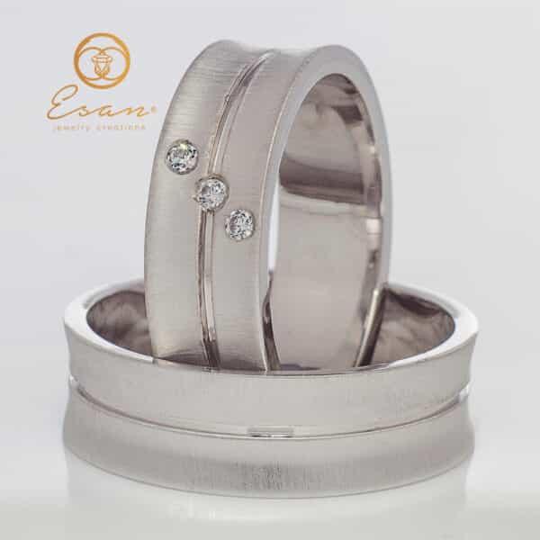 din aur alb cu diamante ESV99