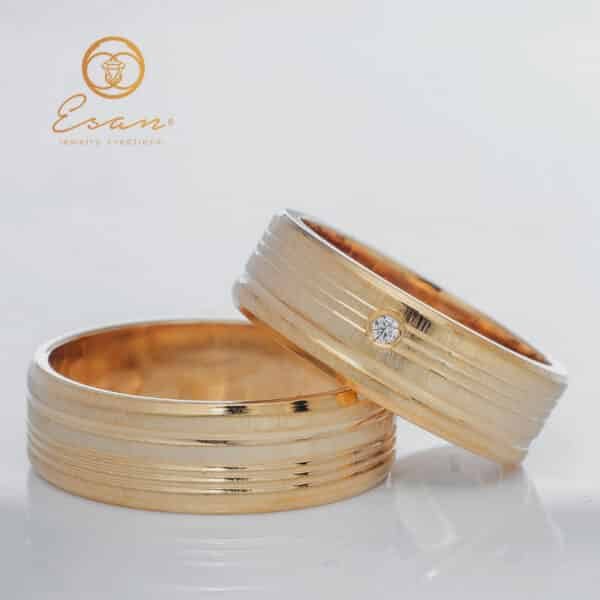 Verighete din aur galben cu diamant ESV105