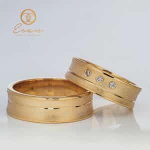 Verighete din aur galben cu diamante ESV109