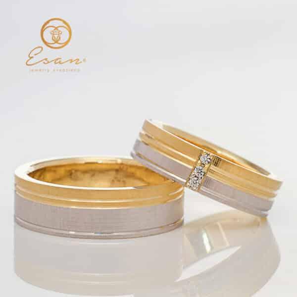 Verighete din aur cu diamante ESV131
